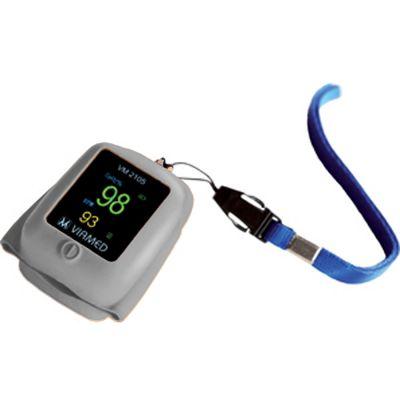 Viamed VM-2105 Silicone Finger Pulse Oximeter (Grey)