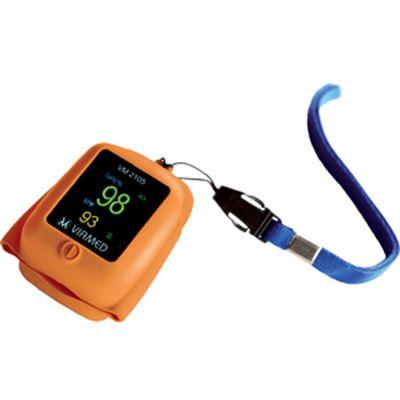 Viamed VM-2105 Silicone Finger Pulse Oximeter (Orange)