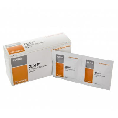 Zoff Adhesive Remover Wipes (Pack of 20)