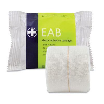 Elasticated Adhesive Bandage - 5cm x 4.5m (Pack of 12)