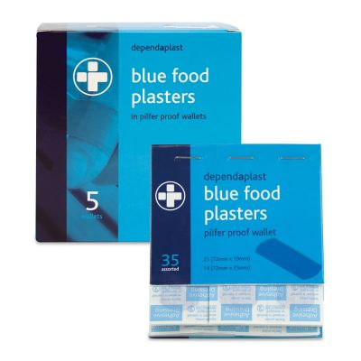 Dependaplast Pilfer Proof Blue Food Plaster Refill (Pack of 5)