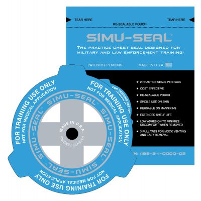 Simu-Seal Practice Chest Seal - Pack of 2 (Blue)