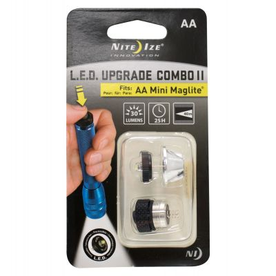 LED Upgrade with Tail Cap for AA Mini Maglite (White)