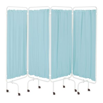 Folding Medical Screen Curtains - Green PVC (Pack of 4)