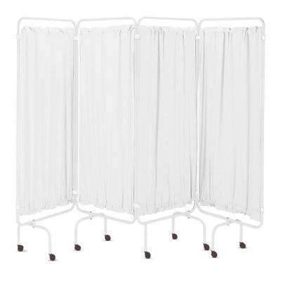 Folding Medical Screen Curtains - White PVC (Pack of 4)
