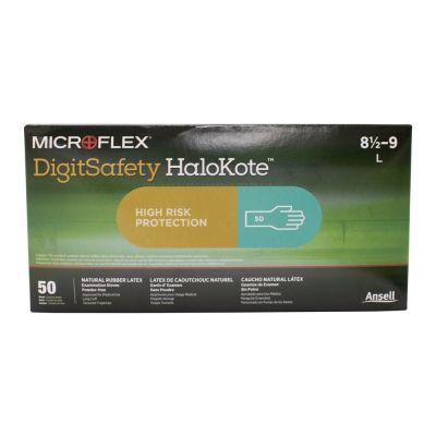 DigitSafety HaloKote Powder-Free Latex Gloves - Box of 50