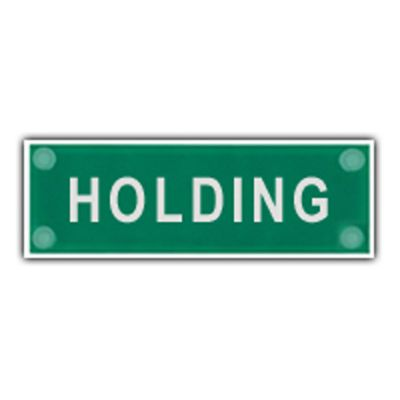 F1 Incident Sign Supplement (Holding)