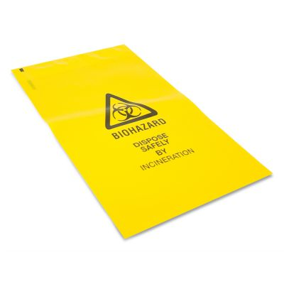Small Clinical Waste Bag - with Adhesive Strip (Pack of 50)