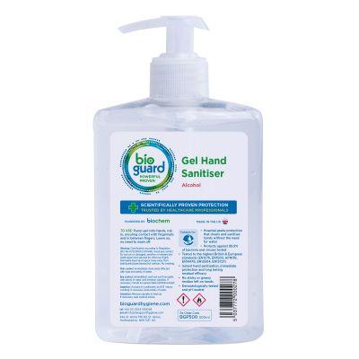 Bioguard Surgical Hand Gel Bottle w/ Pump Dispenser (500ml)