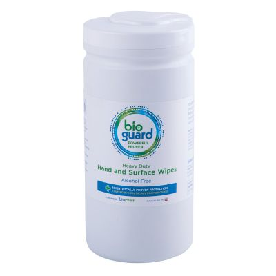 Bioguard Heavy Duty Hand & Surface Wipes Drum (150 wipes)