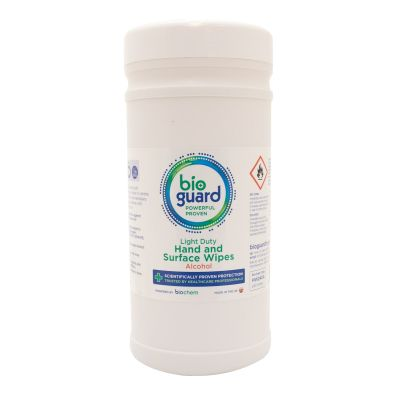 Bioguard Hand & Surface Wipes with Alcohol (240 wipes)