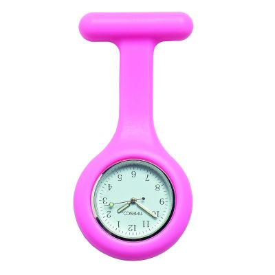 Pink Silicone Analogue Fob Watch
