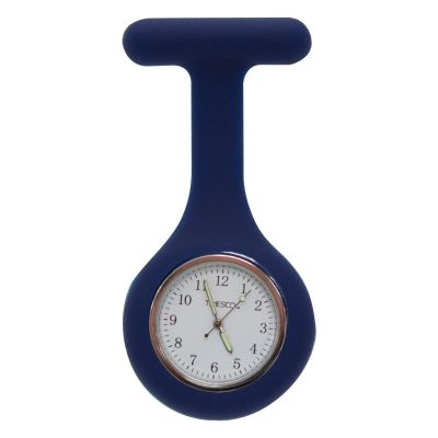 Blue Silicone Analogue Fob Watch
