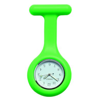 Green Silicone Analogue Fob Watch