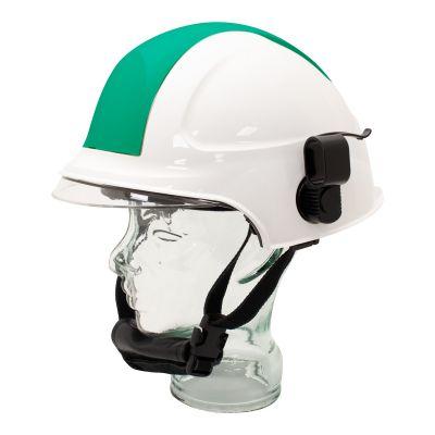Targa Helmet w/ Holder (White/Green)