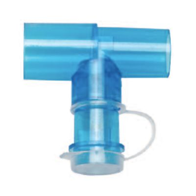 O2-RESQ Valved 'T' Adaptor (22mm Female and 22mm Male)