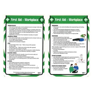 Laminated Pocket Guide (First Aid in the Workplace)