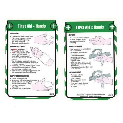 Laminated Pocket Guide (Hands)
