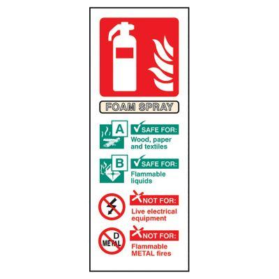 Fire Guidance Sign (Foam Spray)
