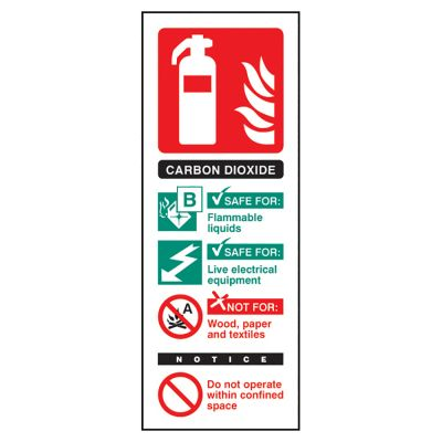 Fire Guidance Sign (Carbon Dioxide)