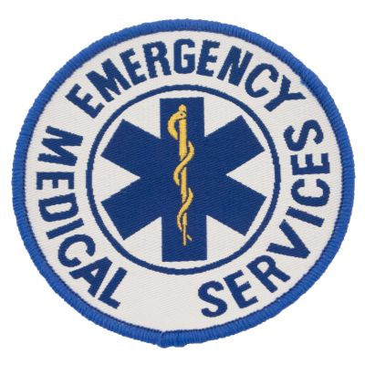 9cm Embroidered Patch (Star of Life - EMS)