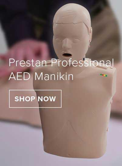 A prestan professional AED Manikin.