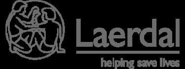 Greyscale Laerdal Logo